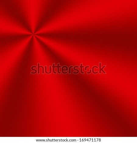 circular brushed aluminum texture red - stock photo