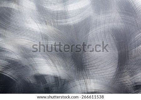 Circular brushed metal background - stock photo