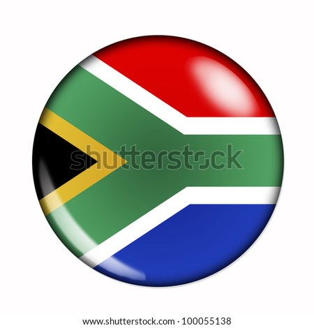 Circular,  buttonised flag of South Africa