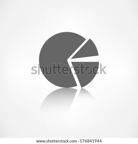 circular diagram web icon - stock photo