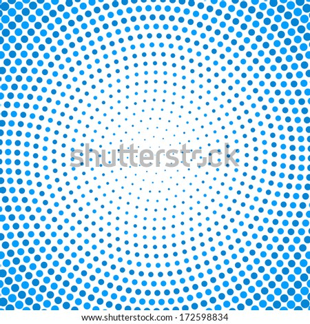 Circular dots tunnel background. Raster version. - stock photo