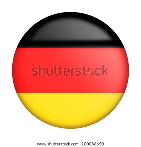 Circular german flag with gloss stylized as an icon - stock photo