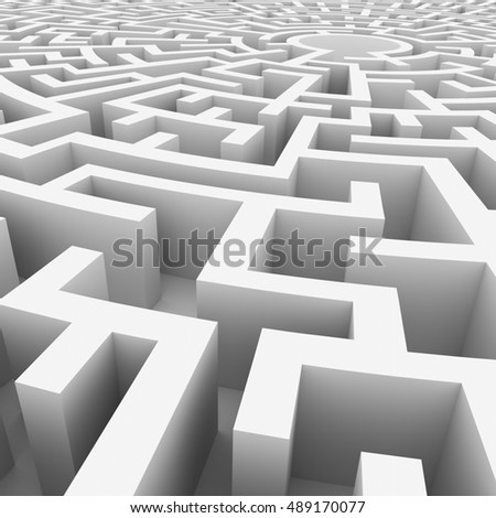 circular maze - 3d illustration