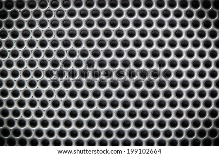 Circular metal grill - stock photo