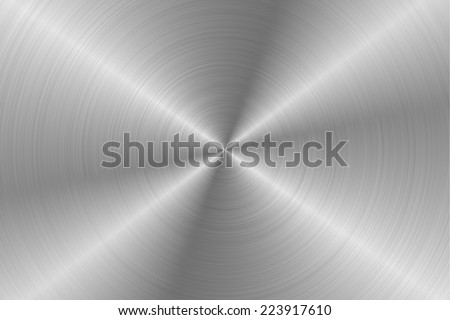 Circular Metal Surfaces Texture 2 - stock photo