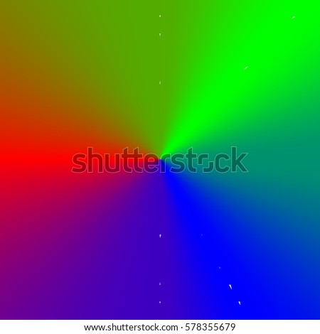 Circular Multicolor Element Color Wheel Stock Illustration