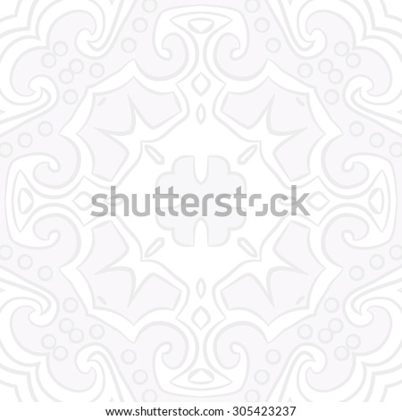 Circular   pattern of floral motif, stripes,hole, spots, ellipses, spirals, cross, branches. Hand drawn.