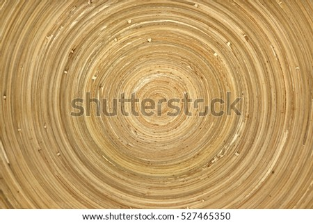 Circular pattern on wooden surface