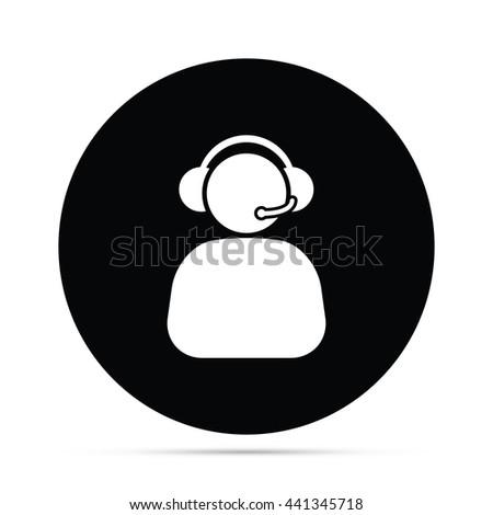 Circular Phone Operator Icon.  Raster Version - stock photo