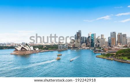 Circular Quay and Opera House, Sydney, Australia - stock photo