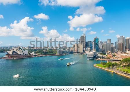 Circular Quay and Opera House, Sydney, NSW, Australia - stock photo