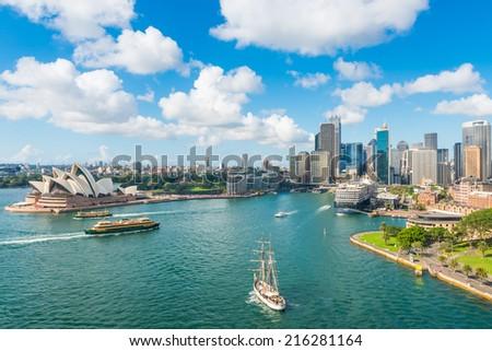 Circular Quay, Sydney, NSW, Australia - stock photo