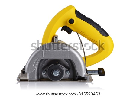 circular saw for stone on white background