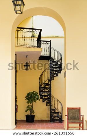 Circular staircase - stock photo