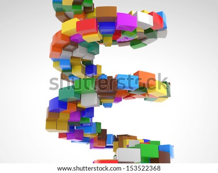 Circular Stairway made out of many colorful pieces - stock photo