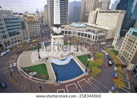 Circular Town Center, Indianapolis, Indiana - stock photo