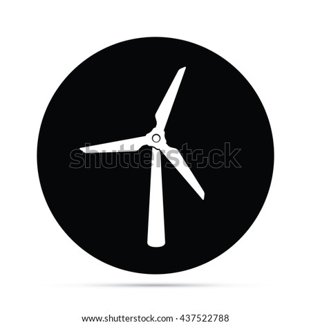 Circular Wind Turbine Icon.  Raster Version - stock photo