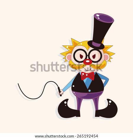 circus animal trainer theme elements - stock photo