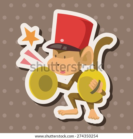 circus , cartoon sticker icon