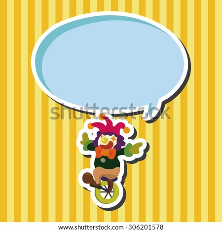 circus clown, cartoon speech icon