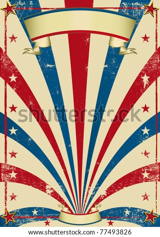 circus vintage poster. A vintage circus background with a texture for a poster. - stock photo