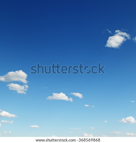 cirrus clouds in the blue sky - stock photo