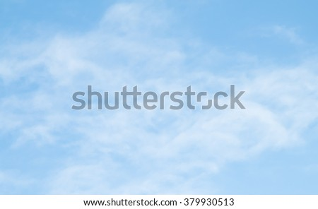 cirrus clouds on a blue cloud