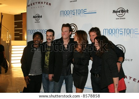 Cisco Adler, memberof of Gym Class heros with John Corbett, Rande Gerber and Cindy Crawford at the opening of the Sweetware Grill Hardrock Hotel San Diego