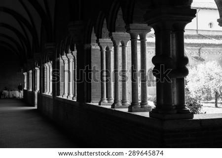 Cisterciensis abbey cloister - stock photo