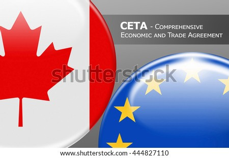 CITA Canada - EUROPE - Flag buttons labeled with CETA - Comprehensive Economic and Trade Agreement