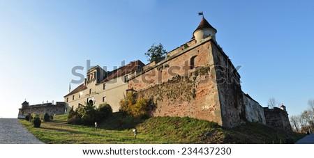 citadel of brasov romania tower detail landmark architecture panorama - stock photo