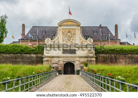 "Citadel of Lille (""Queen of the Citadels"") by Vauban in Lille. It is one of the most notable citadels designed by Vauban; was built between 1667 - 1670. France."