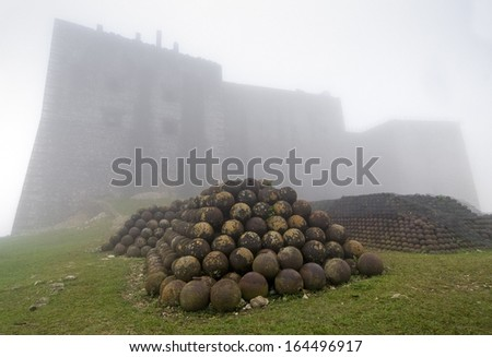 Citadelle Laferriere in the fog, Northern Haiti