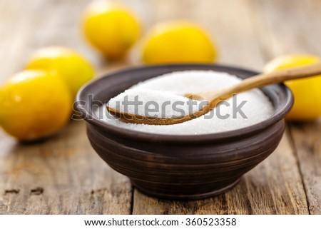 citric acid - stock photo