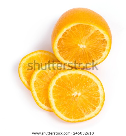 Citrus. Delicious orange on a white background