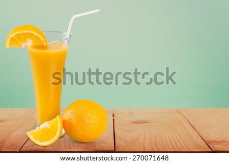 Citrus fruit, close-up, cocktail. - stock photo