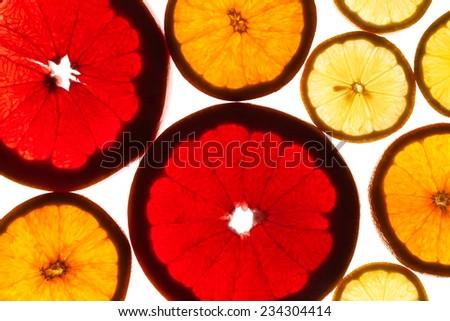 citrus fruits texture - stock photo