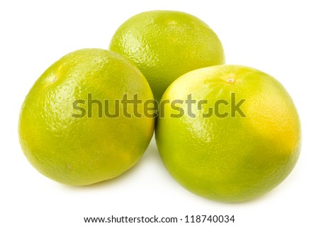 Citrus sveetie on a white background close-up - stock photo