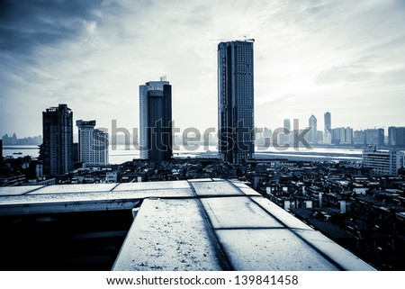 city - stock photo