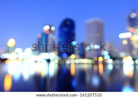 City at night - blur photo,Bokeh background  - stock photo