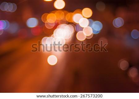City at night - blurred - stock photo