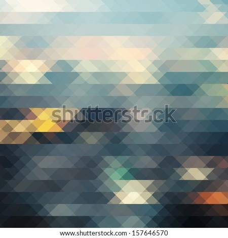 City at night,pixel background. - stock photo