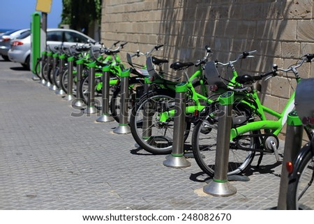 City Bike Rental, Israel - stock photo