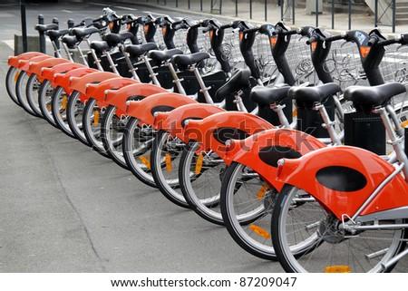 City bikes for rent - stock photo