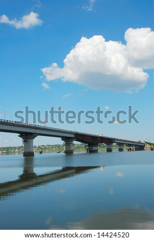 city bridge and river