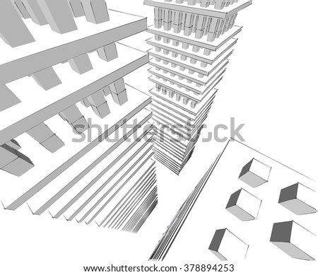 city buildings architectural background