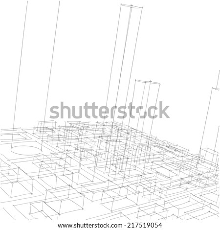 Modern Architecture Perspective modern architecture house perspective pencil. modern. home plan