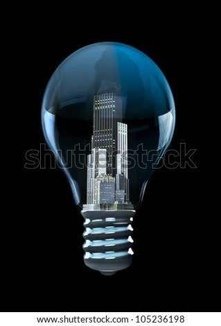 City bulb - stock photo