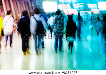 city business people shopping crowd background
