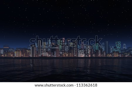 City by Night - stock photo